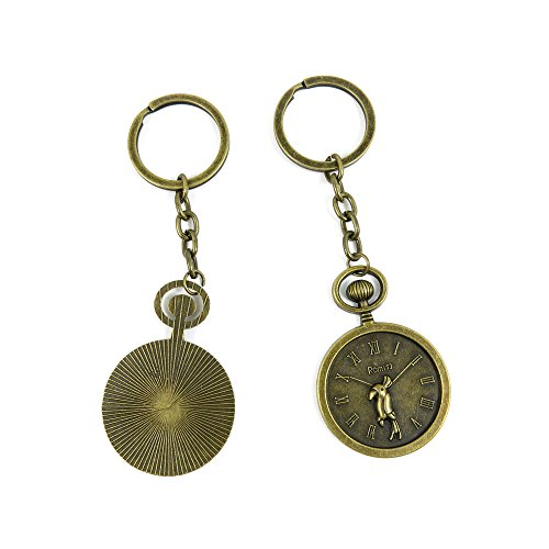 60 Pieces Fashion Jewelry Keyring Keychain Door Car Key Tag Ring Chain Supplier Supply Wholesale Bulk Lots Z2CZ9 Parrot Pocket Watch from 4044 Charms