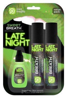 Sweet Breath Non-Aerosol Spray Late Night Mint Mojito 2 Pack With Bonus Drops