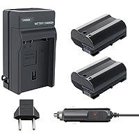 Turpow 2 Pack Replacement 2000mAh Nikon EN-EL15 Battery and Charger Pack for Nikon 1 V1, D7200, D7100, D7000, D800, D800E, D810, D810A, D750, D610, D600 Digital SLR Camera