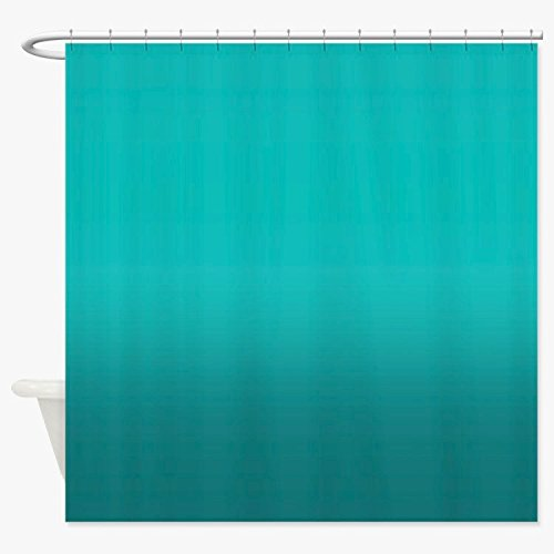 Heavy Duty Magnetized Shower Curtain Liner Mildew Resistant Teal