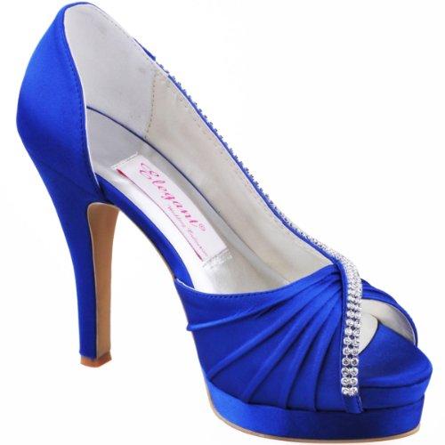 Kengät Ilta Laskostettu Satiini Elegantpark Peep Kävelyttää Toe D'orsay Alustan Naisten Pumppuja Korkokenkiä Häät xqwx7gS1