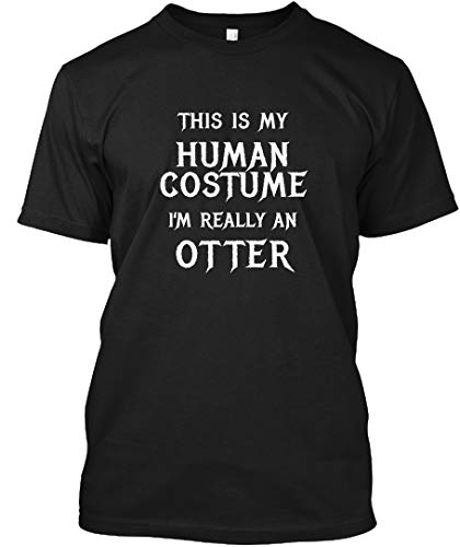 Funny Otter Costume Halloween Shirt Easy 2XL - Black Tshirt - Hanes Tagless Tee