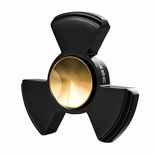 TI-EDC Fidget Spinner Toy - Premium Titanium Tri-Spinner with Replaceable Stainless Steel Ceramic Hybrid Bearing, EDC Focus Toy To Relieve Anxiety, Stress and Boredom - The Nucleus Black