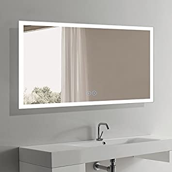 D-HYH 60 x 36 in Horizontal LED Bathroom Mirror with Anti-Fog Function DK-D-N031-W3