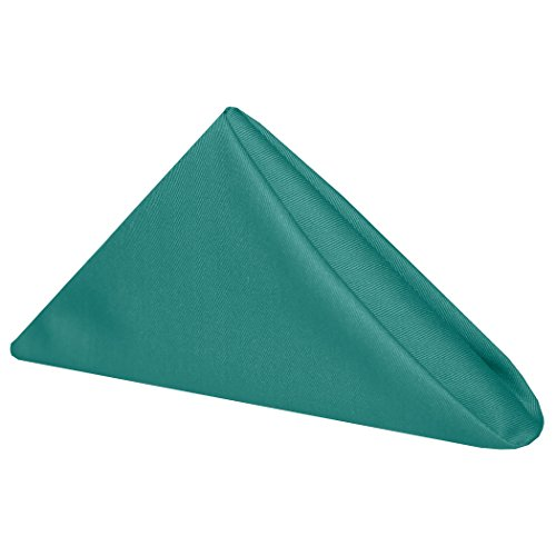 Ultimate Textile (52 Dozen) Poly-cotton Twill 17 x 17-Inch Lunch Napkins - for Restaurant and Catering, Hotel or Home Dining use, (Teal Lunch Napkins)