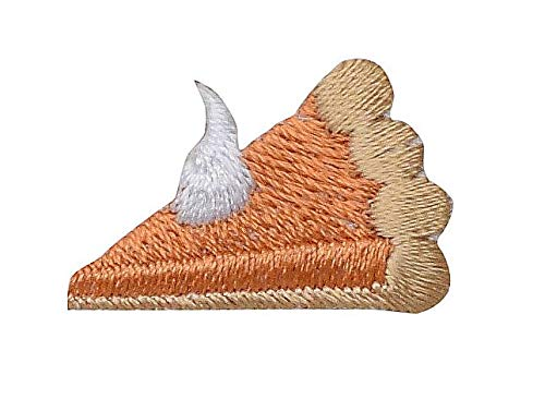 Small/Mini - Pumpkin Pie Facing Left - Iron on Applique/Embroidered Patch