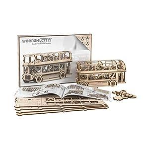 Puzzle 3d Meccanico London Bus By Woodencity Modellino Di Progetti Per Adulti E Bambini 3d Modello Tecnico In Legno