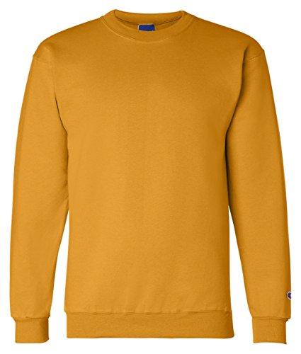 Champion Adult 50/50 Crewneck Sweatshirt, Gold - Size 3X-...