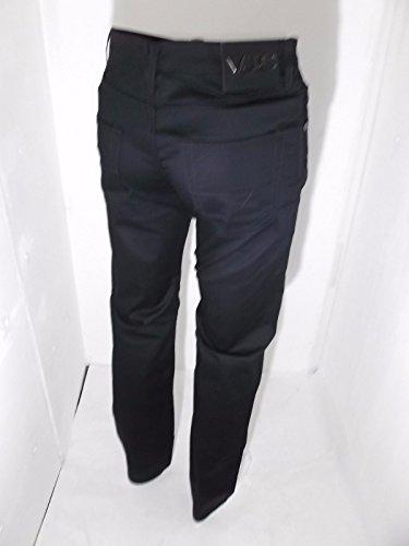pantaloni versace uomo in cotone stretch estivo fuego bis easy diritto nero taglia W33/46 ART48001114