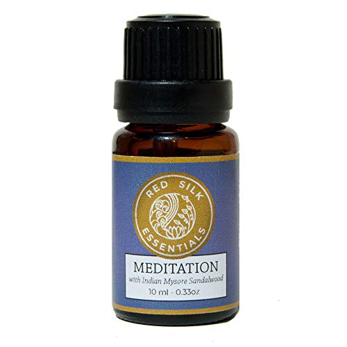 Meditation 100% Pure Undiluted Essential Oil Blend with Rare Indian Mysore Sandalwood Santalum - Blend Essential Myrrh