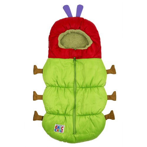 Costumes For Babies In Carriers (Eric Carle 2 in 1 Stroller and Infant Carrier Bag, Bunting Bag, Polyester, Hungry Caterpillar, Green, Red, Brown and Purple)