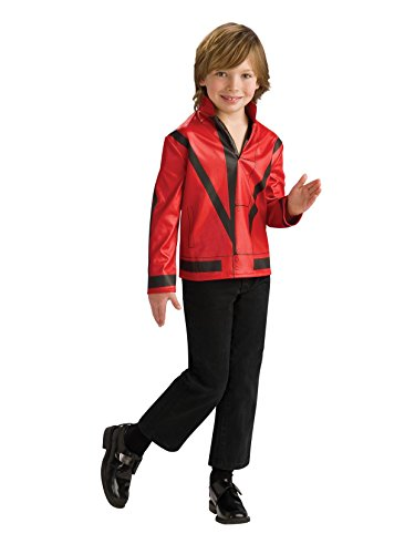 Michael Jackson Child's Red Thriller Jacket Costume Accessory, -