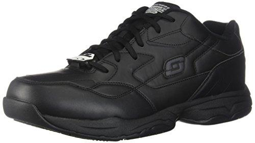 Skechers Men's, Felton Slip Resist Work Sneakers Black 15 M ()