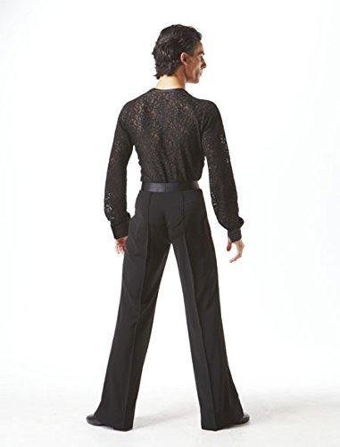 Taka Dance Black Men's Latin Shirt [MS185B] by TAKA DANCE