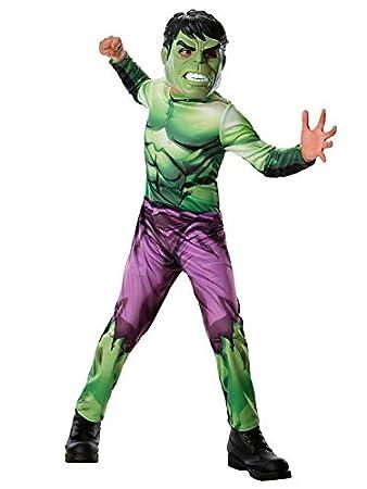 DISBACANAL Disfraz de Hulk Los Vengadores para niño - Único ...