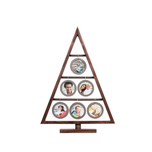 EDGEWOOD Northwood Walnut Family Tree Frame Hanging six Mini Round Acrylic Frames