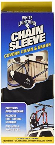 White Lightning Chain Johnny (Black) (Road Bike Chain Cover)