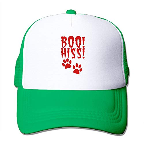 Boo HISS Halloween Costume with Pussy Cat Paws Big Foam Mesh Truck Cap Mesh Back Adjustable Cap