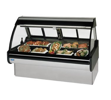 (Federal Industries Curved Glass Refrigerated Red Meat Maxi Case, 48