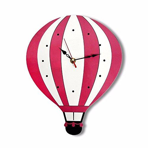 G. Medalis Wall Clock Quartz Design Non-ticking Silent Home/Kitchen/Office/School Wall Clock, Easy to Read Creative Hot Air Balloon Color Acrylic Children Cartoon Wall Clock 4218Cm