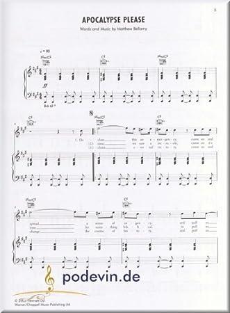 Muse – The Piano Songbook – Notas Songbook Piano, canto y guitarra ...