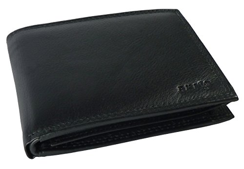 Purse Coin Protection Leather With Black Wallet Men Leather Purse Genuine With Purse Made Rfid Wallet With Hnqxn4A6wU