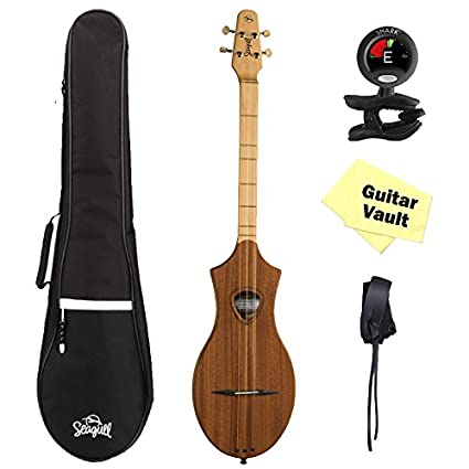 Seagull Merlin M4 Mahogany GuitarVault Kit with Gig Bag, Strap, Tuner and Polishing Cloth (39098)