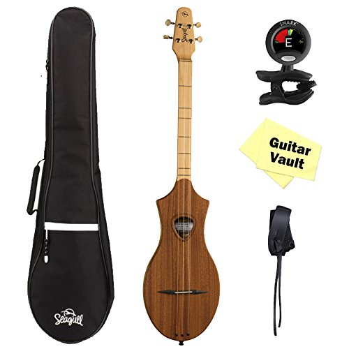 Seagull Merlin M4 Mahogany GuitarVault Package with Gig Bag, Strap, Tuner and Polishing Cloth by Seagull