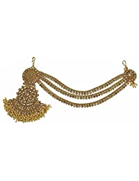 MUCHMORE Ethnic Indian Traditional Matha Patti Gold Plated Designer Jewelry