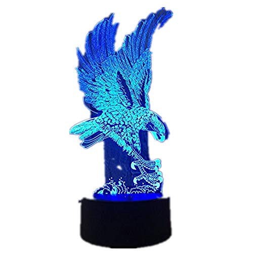 Eagle 7 Color Lamp 3d Visual Led Night Lights For Kids Touch Usb Table Lampara Lampe Baby Sleeping Nightlight
