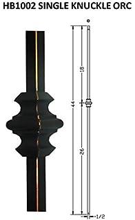 LIH-HOL1KNUC44 Satin Black Single Knuckle Baluster Hollow