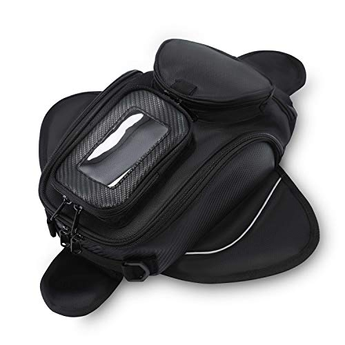 - Motorcycle Tank Bag Waterproof with Strong Magnetic Motorbike Bag for Honda Yamaha Suzuki Kawasaki Harley Small