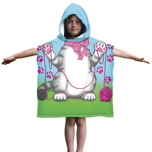 Cotton Hooded Poncho Beach Towel product image