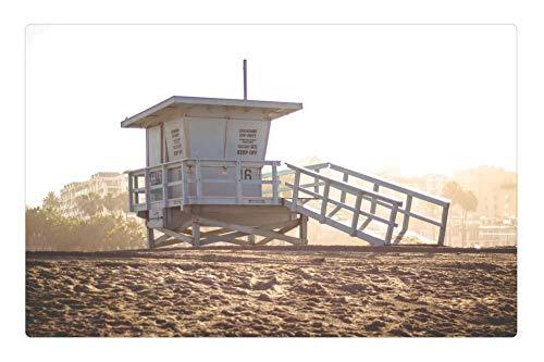 Tree26 Indoor Floor Rug/Mat (23.6 x 15.7 Inch) - Lifeguard Hut Beach Sand Summer