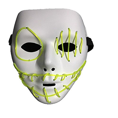 SEVEN STYLE Haunted House Stranger Luminous Mask for Hip Hop/Halloween/Costume Parties