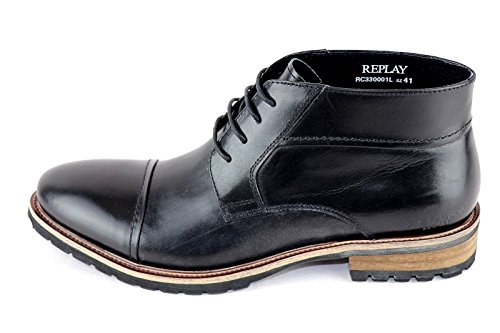 REPLAY BUSINESS MEN SHOES BOOTS Black GREAT FASHION