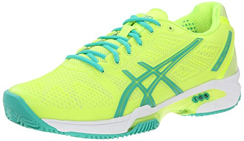 ASICS Women's Gel Solution Speed 2 Tennis Shoe, Flash Yellow/Mint/Sharp Green, 11.5 M US