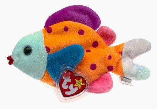 1 X Ty Beanie Babies - Lips the Fish by Beanie Babies