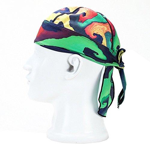 Wicking Beanie Adjustable Cycling Bandana - Skull Cap Beanie for Outdoor Running - Double Dry Dew Doo Rag Head Wrap Headband Sweatband