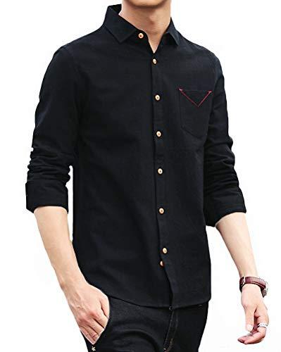 重くする本物フライトFaston メンズ 長袖 シャツ カジュアルシャツ 高品質 綿100% ポケット付き クール ボタンダウン シャツ オシャレ 春 秋 冬 メンズ FA032
