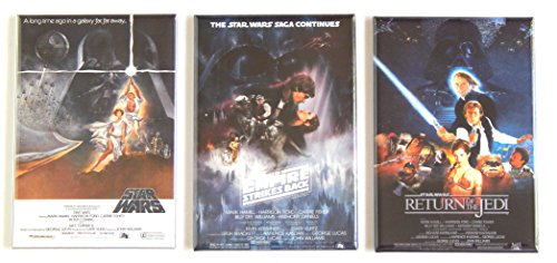 (Star Wars Trilogy Movie Poster Fridge Magnet Set (2 x 3 inches each) )