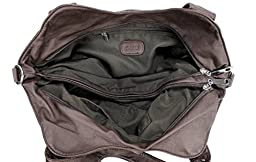 Scarleton Front Zippers Washed Shoulder Bag H147621 - Coffee