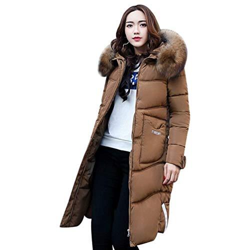 Tasche Lunga Transizione Monocromo Con Manica Abbigliamento Anteriori Cappotto Moda Donna Invernali Piumini Di Giacca Khaki Cerniera Coat Giovane Cappuccio xnYXO0n7wf