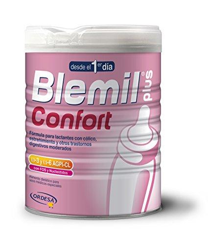 Blemil Confort - fórmula para lactantes con cólico, estreñimiento y otros trastornos digestivos moderados, 800 g