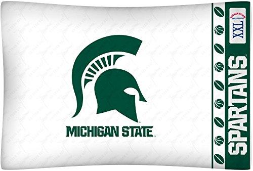 Printed Michigan Pillowcase - Michigan State University Pillowcase
