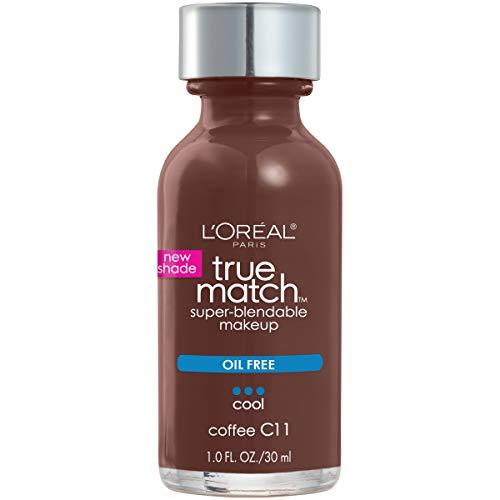 L'Oreal Paris Makeup True Match Super-Blendable Liquid Foundation, Coffee C11, 1 Fl Oz,1 Count