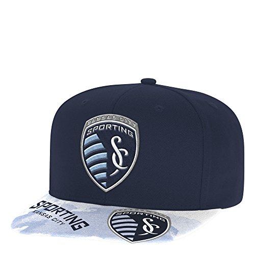 d4c0bf4e039a9 MLS Sporting Kansas City Adult Men Sublimated Flat Brim Snapback Hat