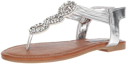Kids Silver Dress - Steve Madden Girls' JFINNY Flat Sandal,