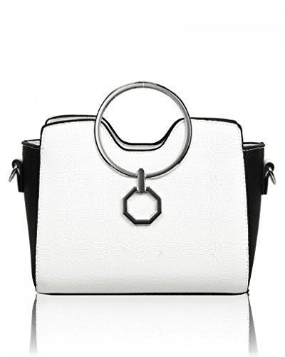 LeahWard Women's Small Tote Bags Designer Cross Body Bag Shoulder Handbags For Holiday Party 0816 White-bk