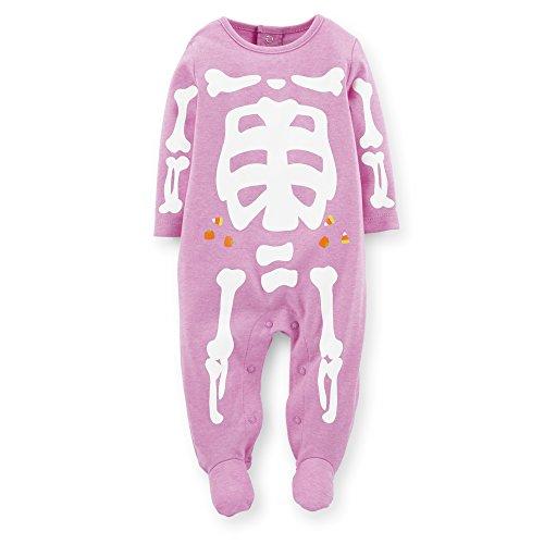 Carter's Baby Girls' Halloween Snap Romper (Baby) - Purple Skeleton - Purple - Newborn (Purple Skeleton)